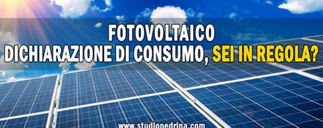 Dichiarazione Consumo Annuale Fotovoltaico